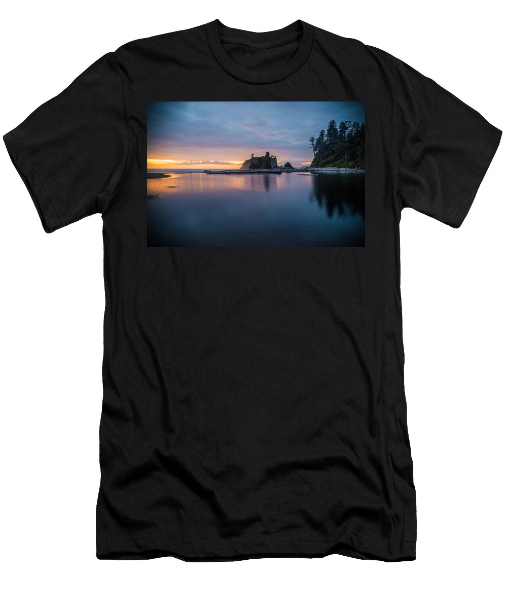 Olympic National Park Men's T-Shirt (Athletic Fit) featuring the photograph At Peace by Kristopher Schoenleber