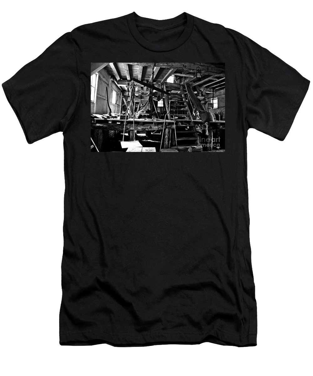 Mill Men's T-Shirt (Athletic Fit) featuring the photograph At The Grinder by Brothers Beerens