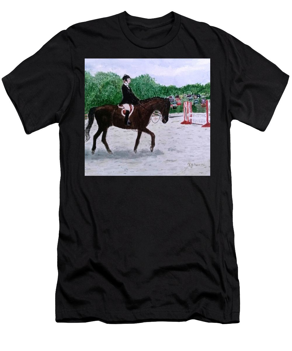 Horse Men's T-Shirt (Athletic Fit) featuring the painting At The June Fete by Vickie G Buccini