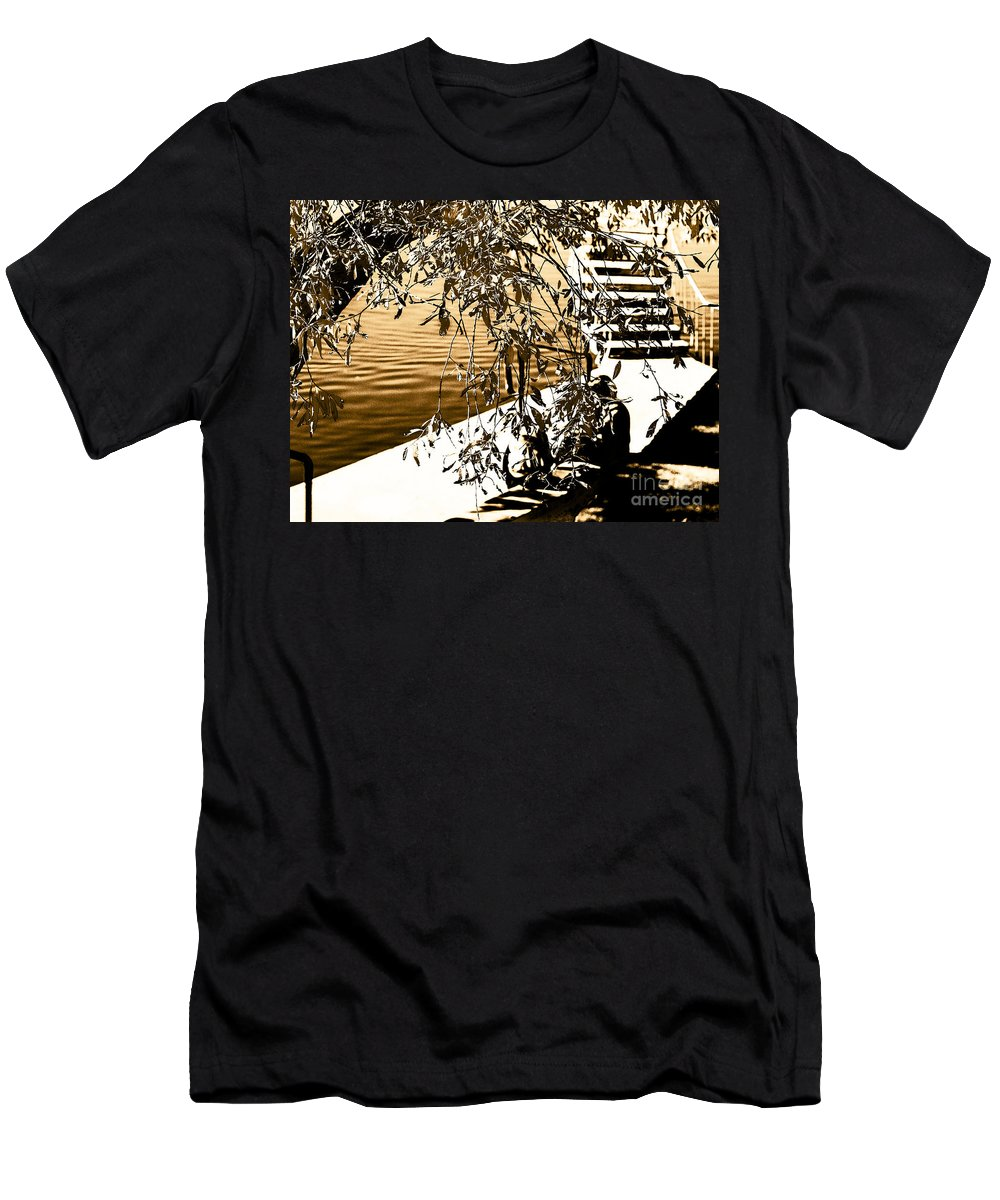 Abstract Digital Art Men's T-Shirt (Athletic Fit) featuring the photograph At The Lake-44 by David Fabian