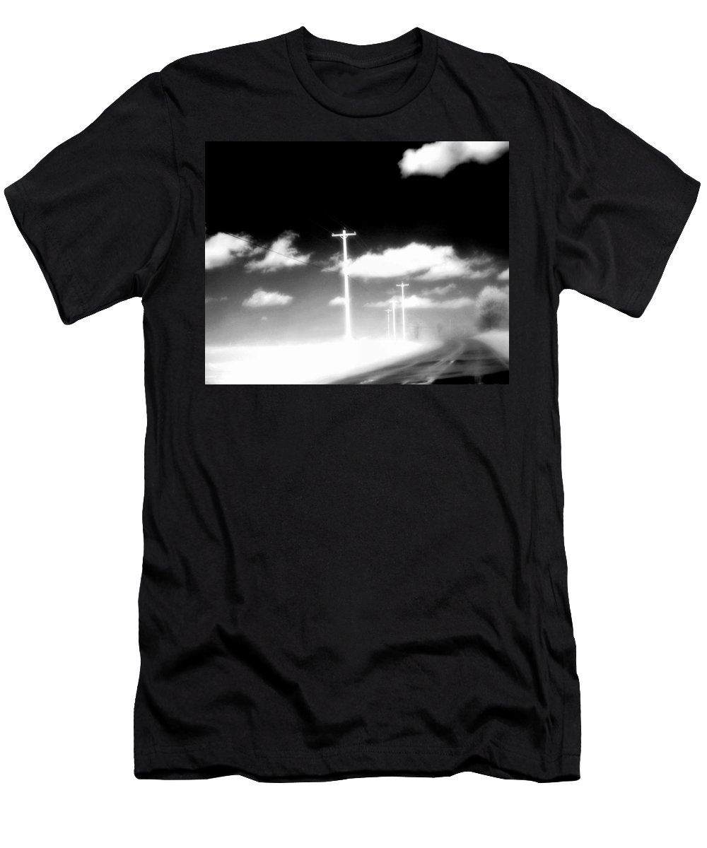 Infrared Men's T-Shirt (Athletic Fit) featuring the photograph Infrared Highway by Gothicrow Images