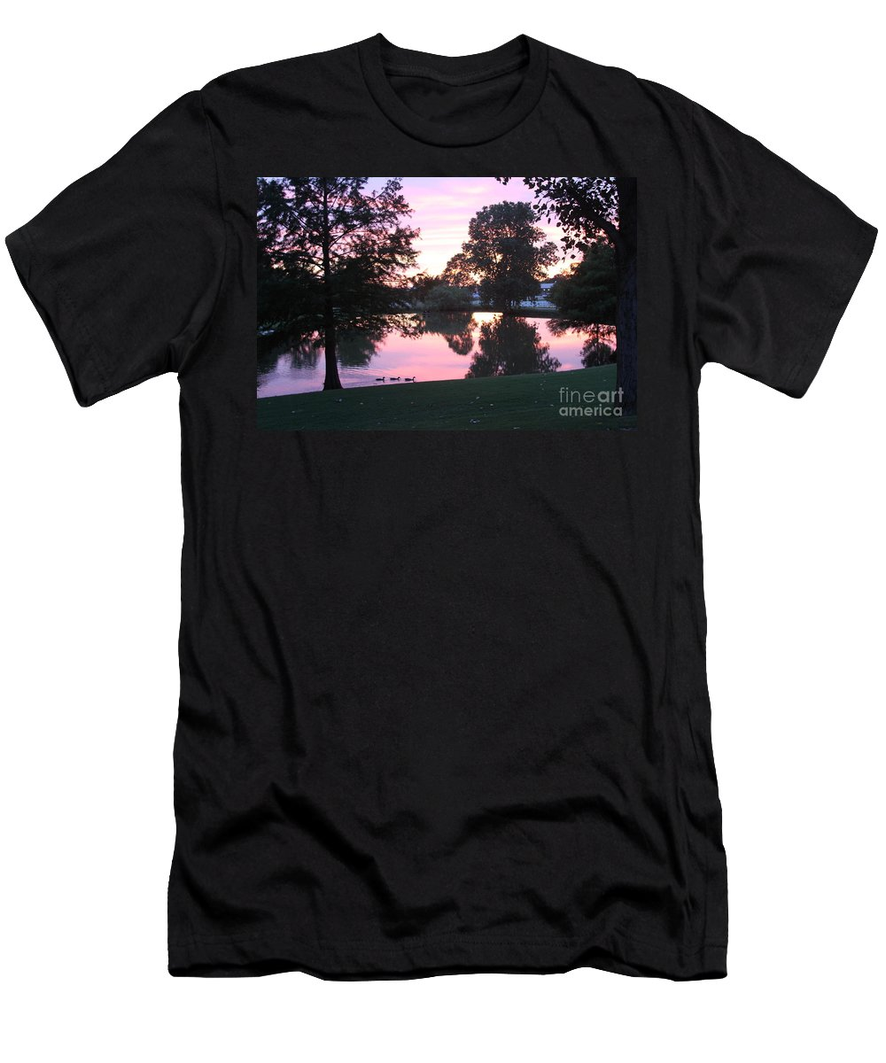 Nuclear Reflection Men's T-Shirt (Athletic Fit) featuring the digital art Atomic Reflection by L L L