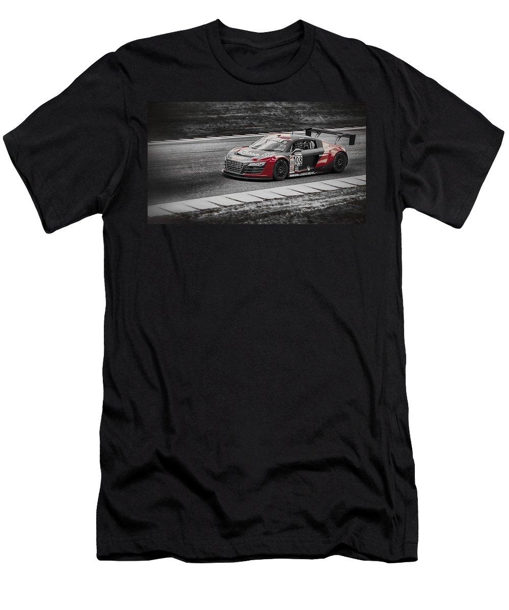 Audi Men's T-Shirt (Athletic Fit) featuring the photograph Audacious Audi R8 by Scott Wyatt