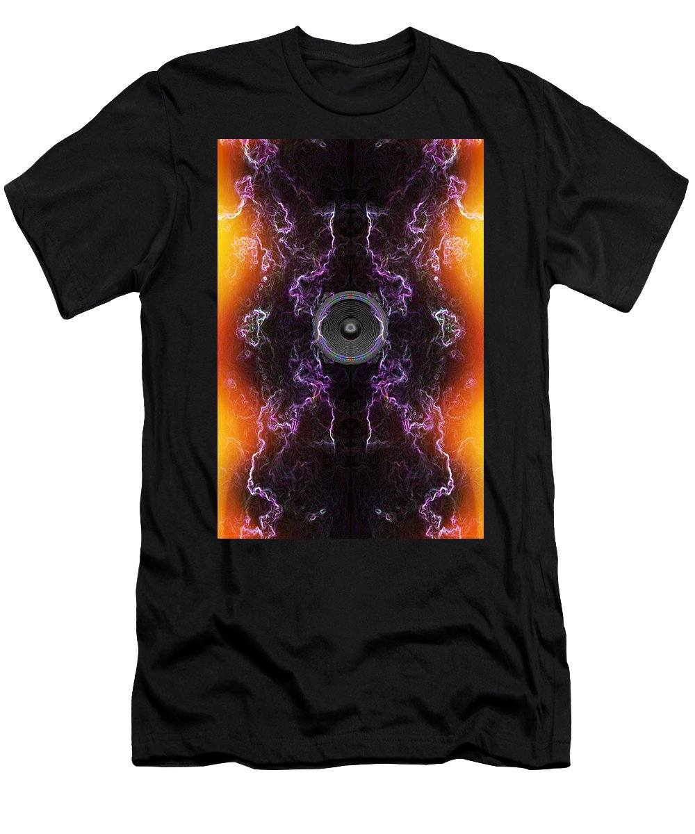 Festival Men's T-Shirt (Athletic Fit) featuring the digital art Audio Purple Orange by Steve Ball