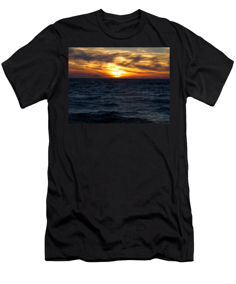 Alaska Men's T-Shirt (Athletic Fit) featuring the photograph Augustine Sleeps by Jeremy Rhoades