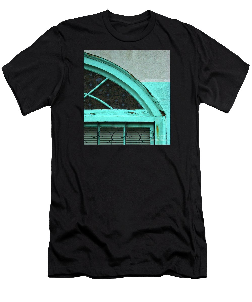 Architecture Men's T-Shirt (Athletic Fit) featuring the photograph Aunt Mamies Window by Joe Jake Pratt