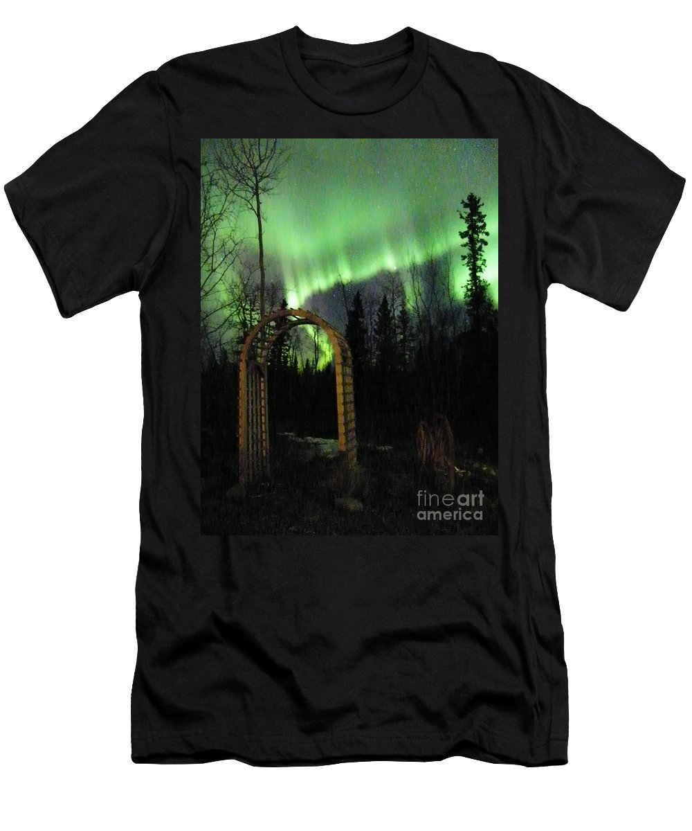 Aurora Men's T-Shirt (Athletic Fit) featuring the photograph Auroral Arch by Brian Boyle
