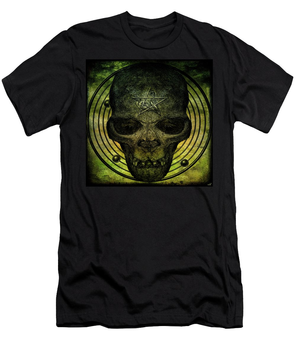 Callicantzaros Men's T-Shirt (Athletic Fit) featuring the photograph Authentic Skull Of The Vampire Callicantzaros by Chris Lord