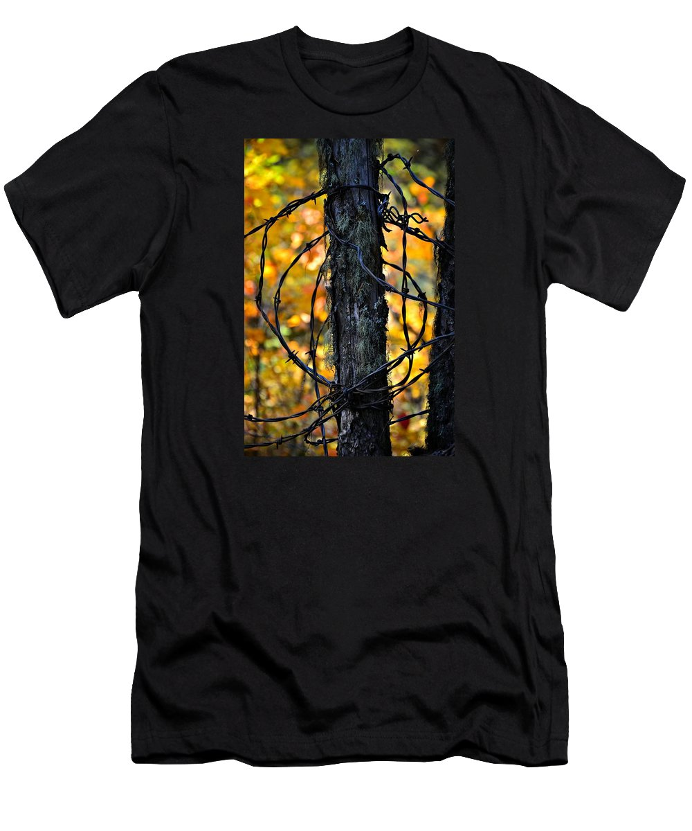 Abstract Men's T-Shirt (Athletic Fit) featuring the photograph Autumn Colors 1 by Newel Hunter
