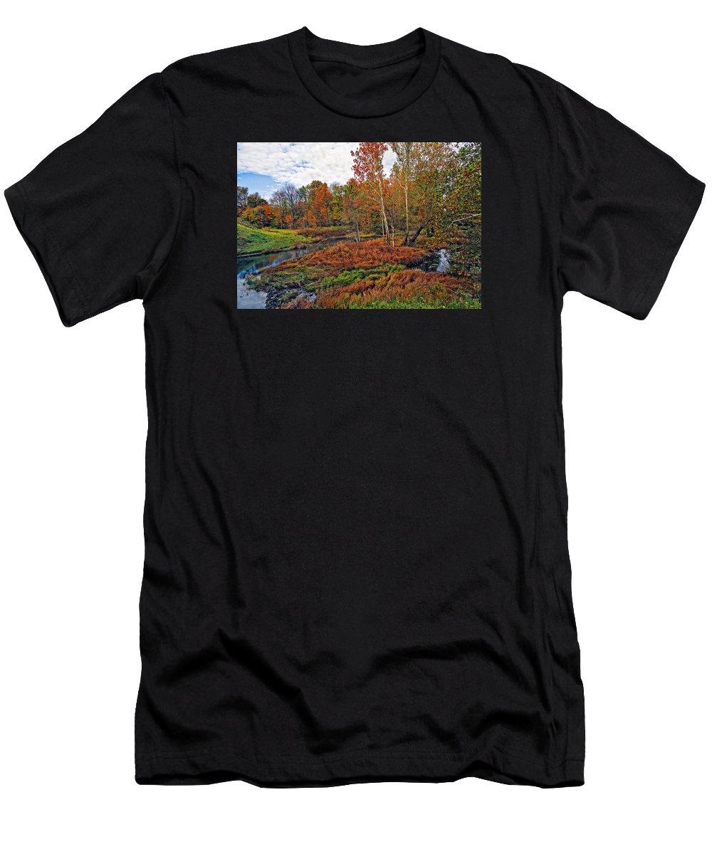Landscape Men's T-Shirt (Athletic Fit) featuring the photograph Autumn Colors by Marcia Colelli
