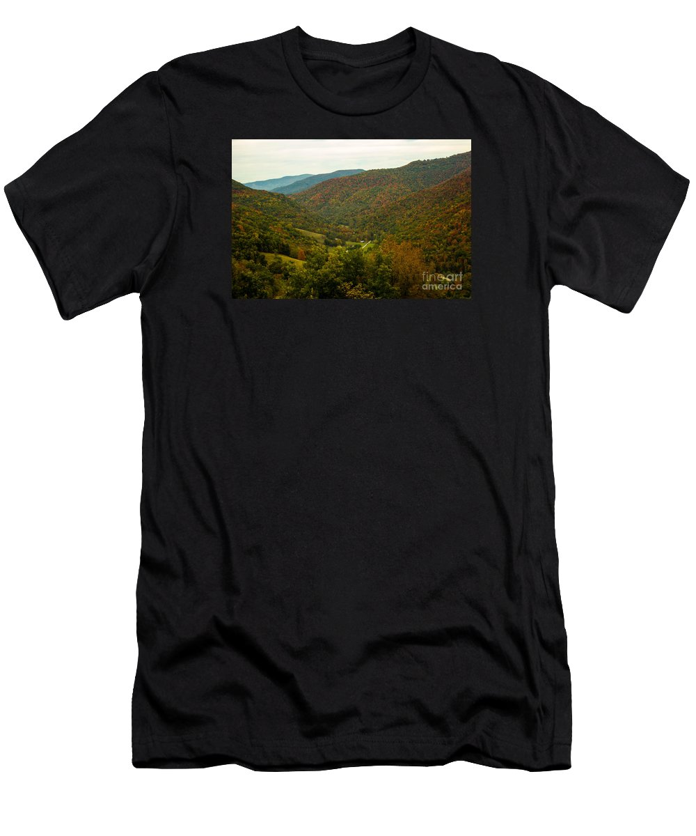 West Virginia Men's T-Shirt (Athletic Fit) featuring the photograph Autumn Comes To Appalachia by Howard Tenke