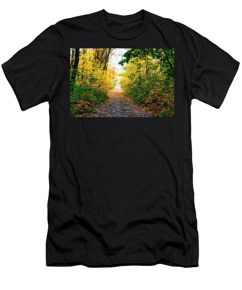 Kiev Men's T-Shirt (Athletic Fit) featuring the photograph Autumn Forest by Alain De Maximy