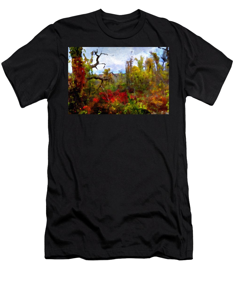 Horizon Image Men's T-Shirt (Athletic Fit) featuring the photograph Autumn In New England by Joan Reese