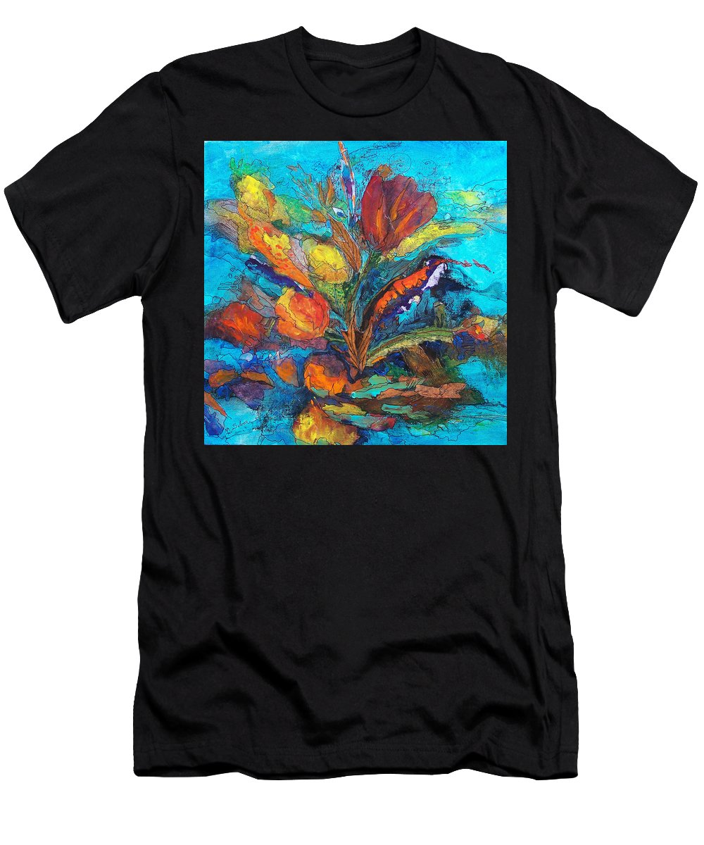 In Focus Men's T-Shirt (Athletic Fit) featuring the mixed media Autumn In Oklahoma by Mtnwoman Silver