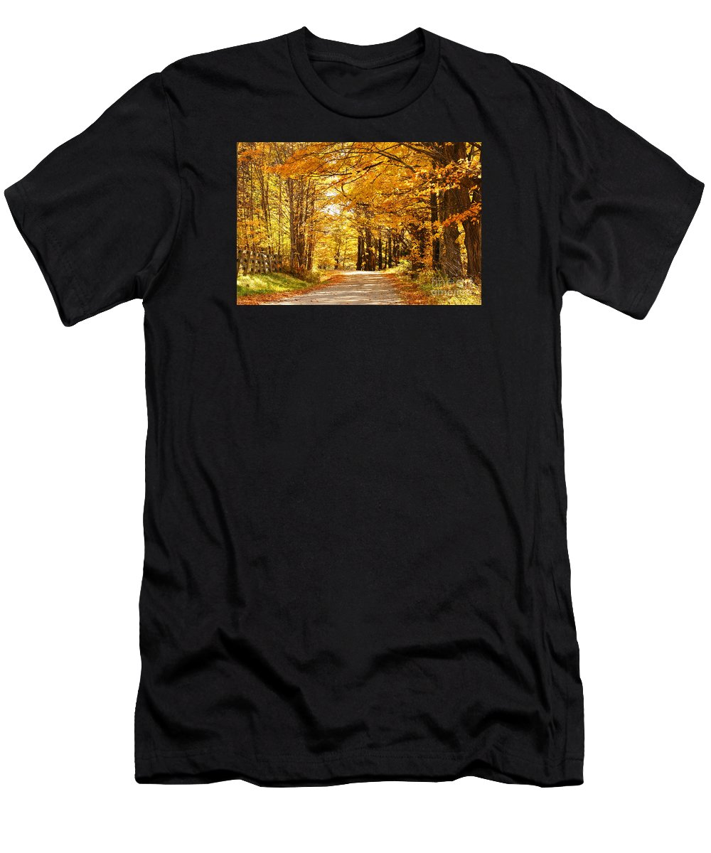 Autumn Men's T-Shirt (Athletic Fit) featuring the photograph Autumn Leaves by Benedict Heekwan Yang