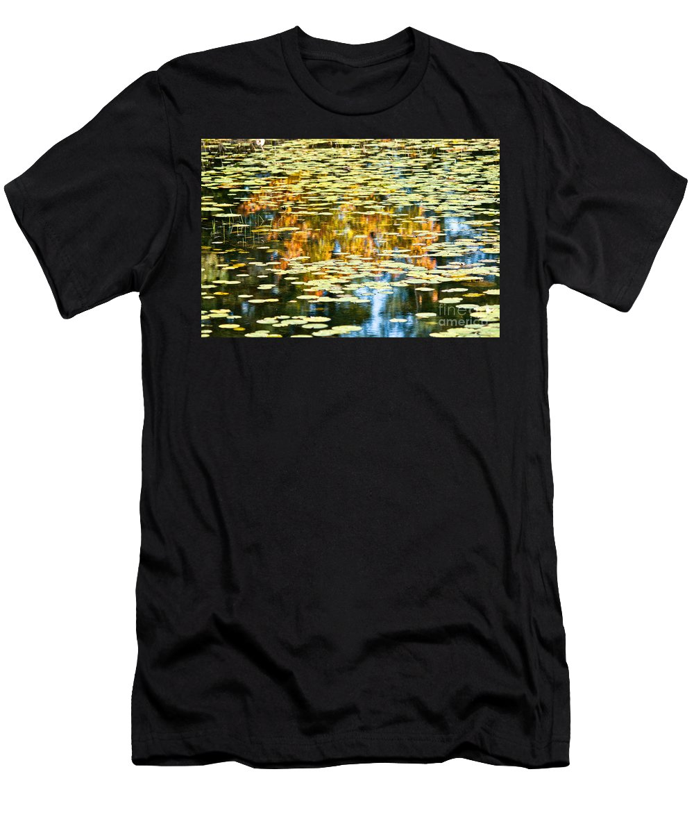 Men's T-Shirt (Athletic Fit) featuring the photograph Autumn Marsh by Cheryl Baxter