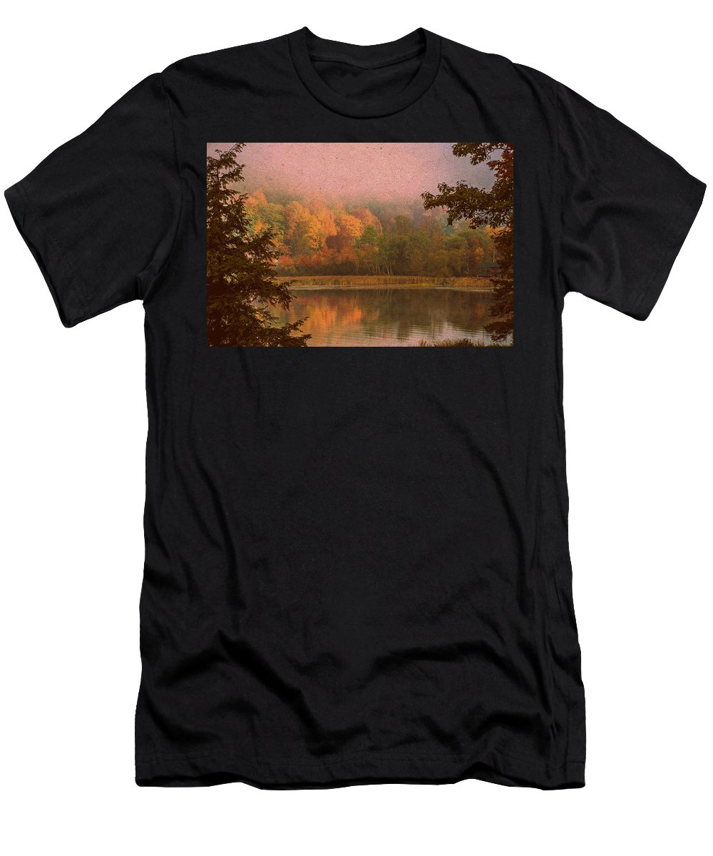 Autumn Men's T-Shirt (Athletic Fit) featuring the photograph Autumn Paper by Sherman Perry