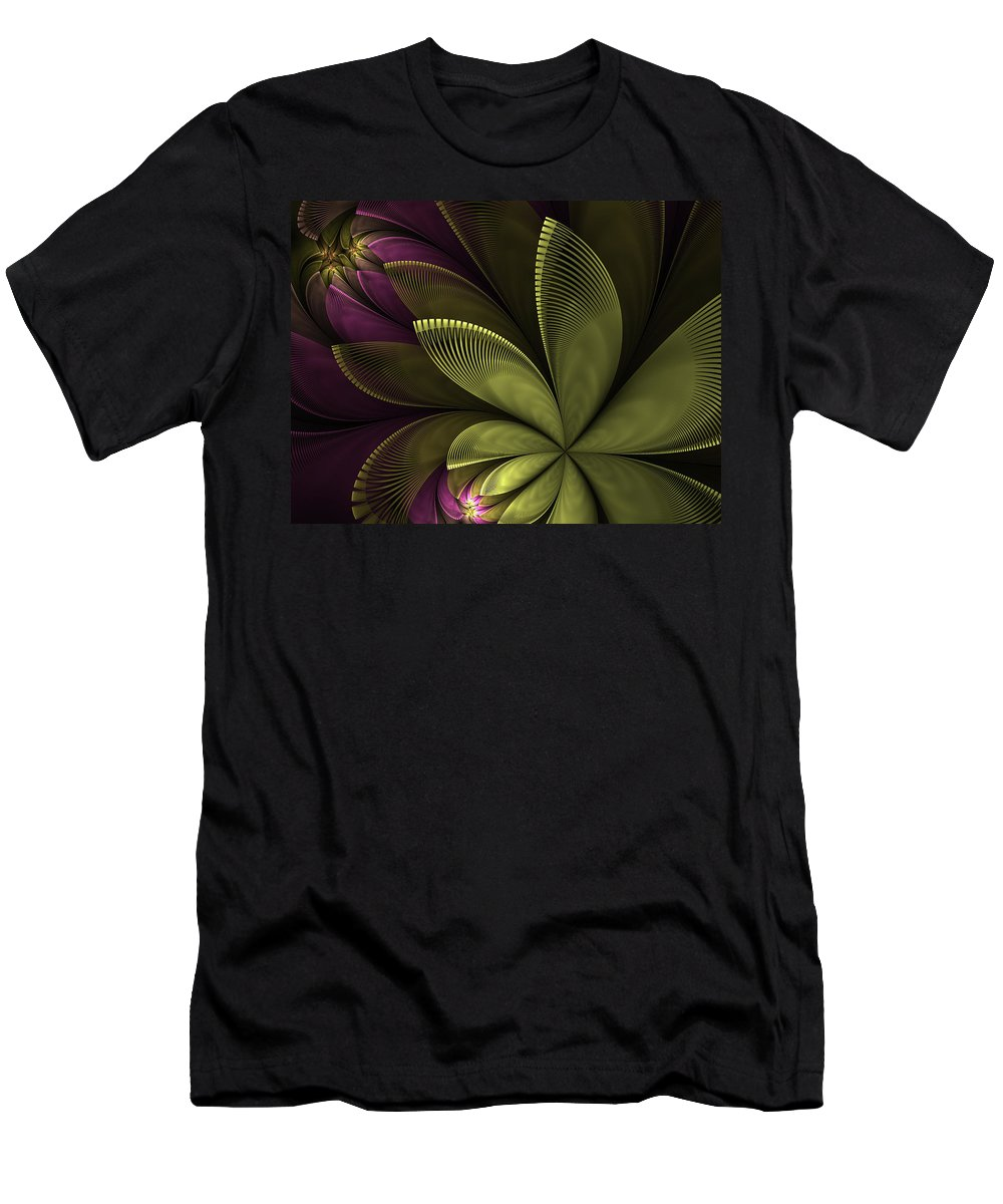 Flower Men's T-Shirt (Athletic Fit) featuring the digital art Autumn Plant II by Gabiw Art