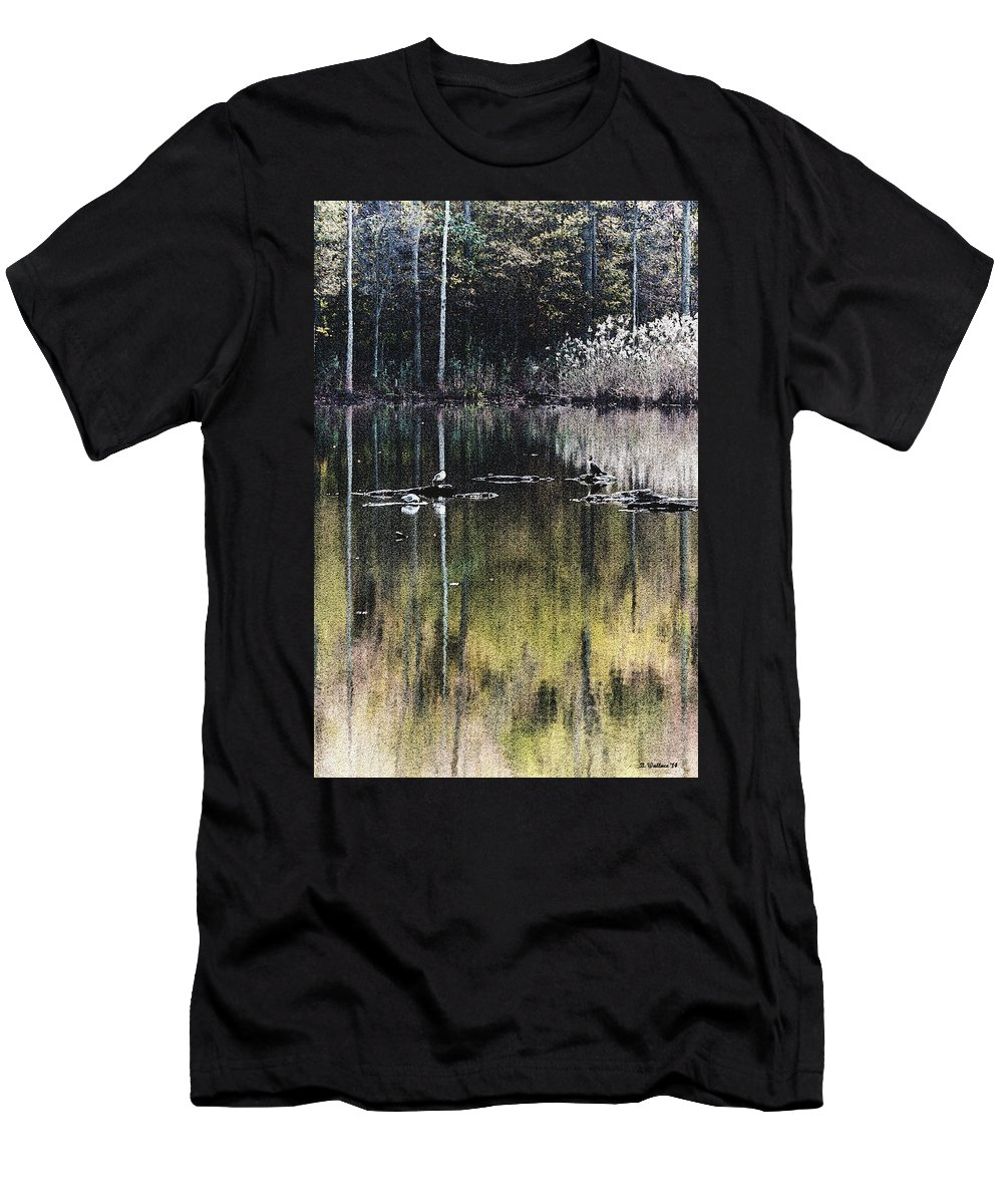 2d Men's T-Shirt (Athletic Fit) featuring the photograph Autumn Pond by Brian Wallace