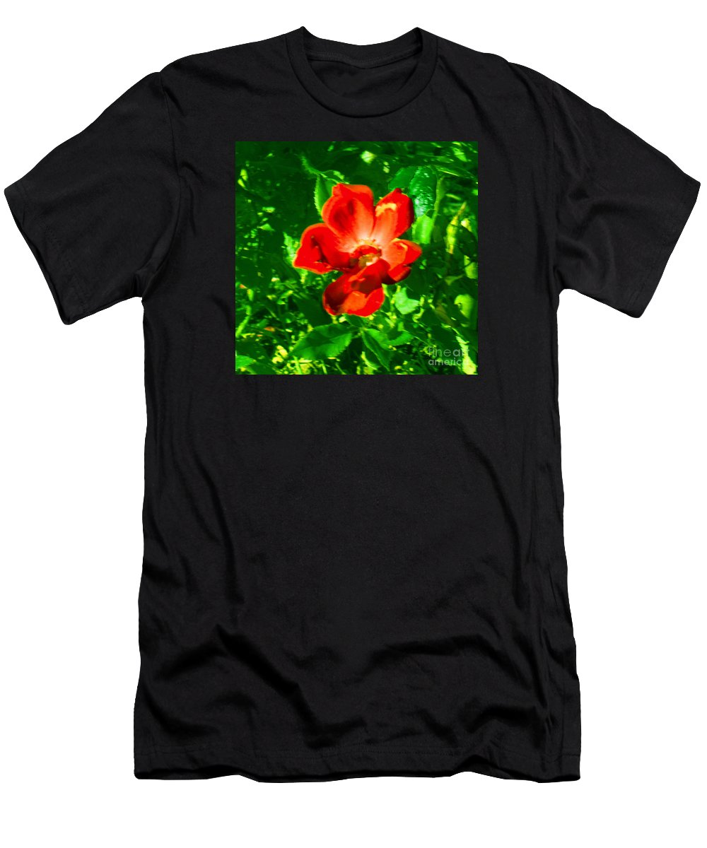 Landscape Men's T-Shirt (Athletic Fit) featuring the photograph Autumn's Flower by Theresa Cummings