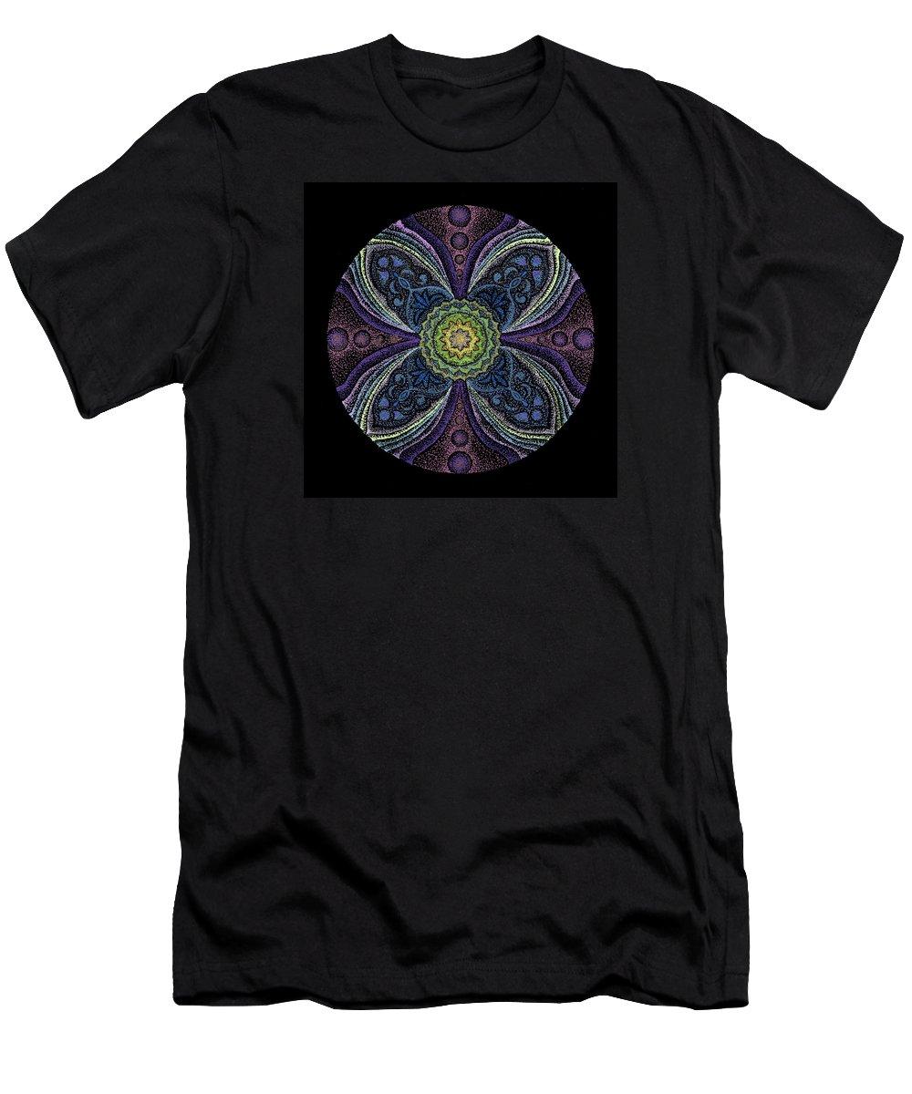 Healing Mandala Men's T-Shirt (Athletic Fit) featuring the painting Awakening by Keiko Katsuta