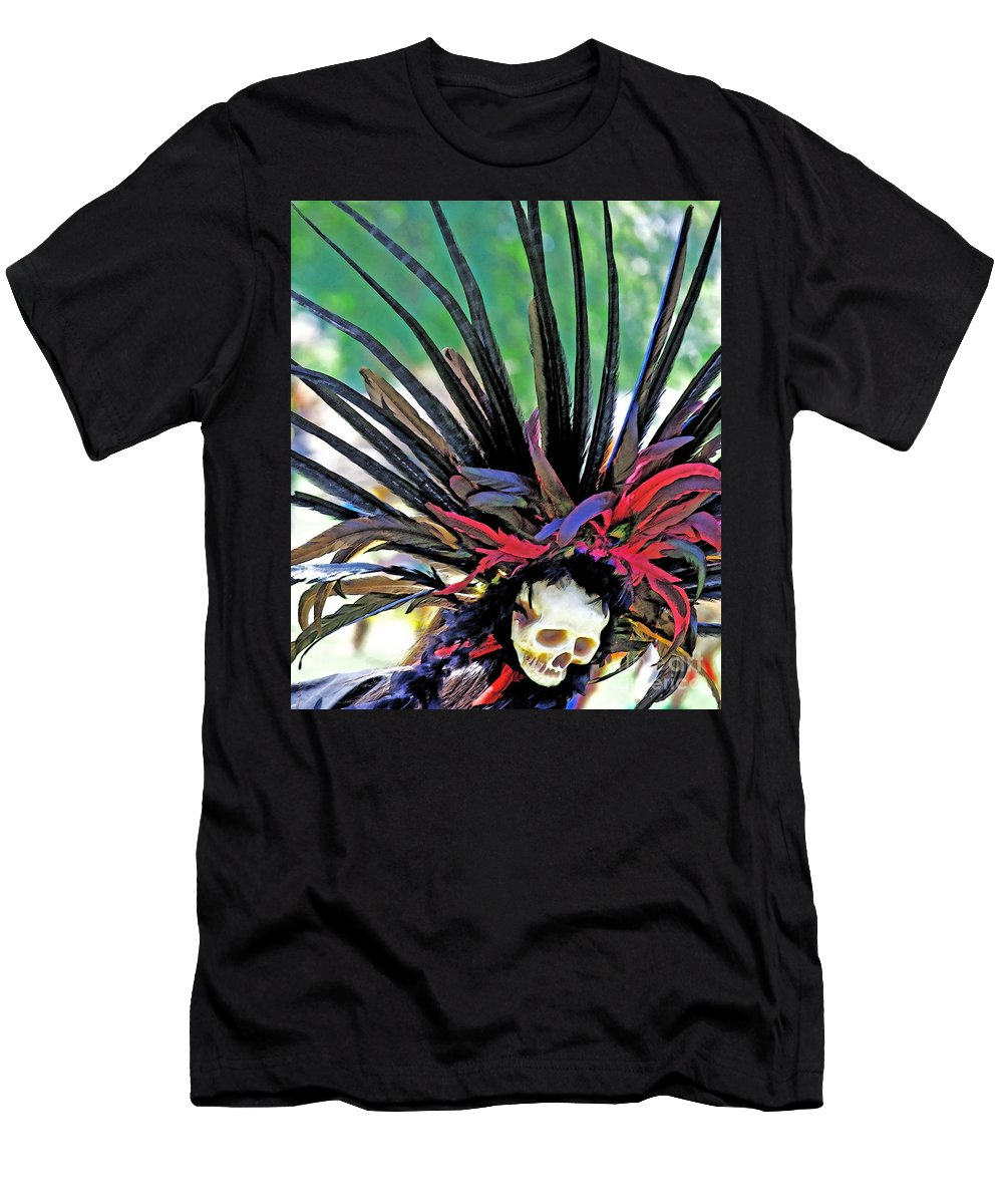 Aztecan Men's T-Shirt (Athletic Fit) featuring the photograph Aztecan Ceremony 15 by Gwyn Newcombe