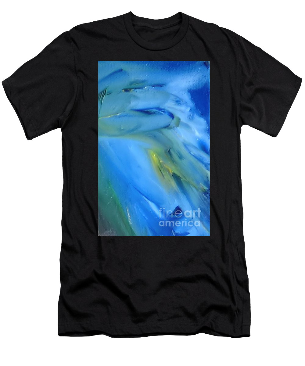 Modern Men's T-Shirt (Athletic Fit) featuring the painting Azul by Reina Resto