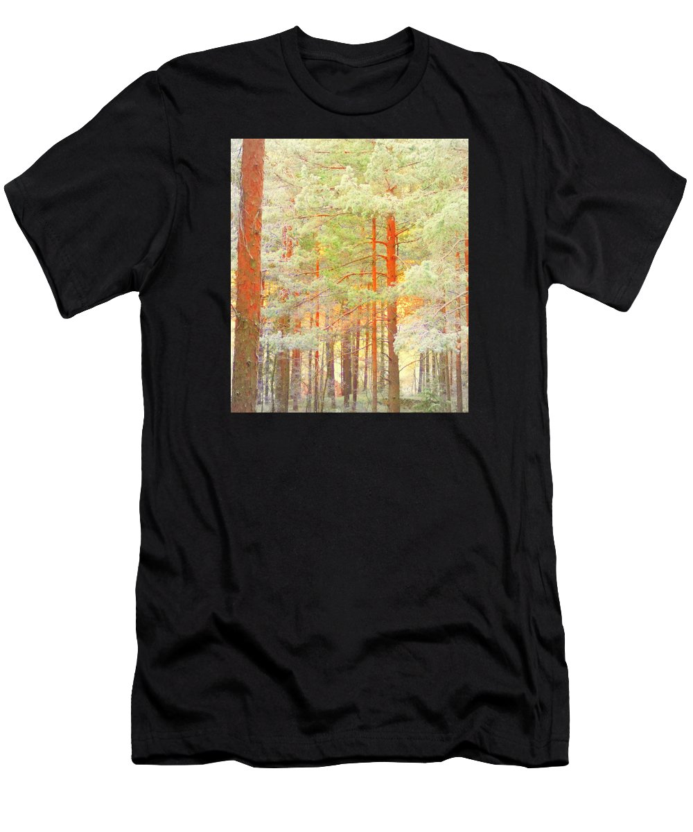 Tree Men's T-Shirt (Athletic Fit) featuring the photograph Baby Its Cold Outside But The Trees Don't Freeze by Hilde Widerberg