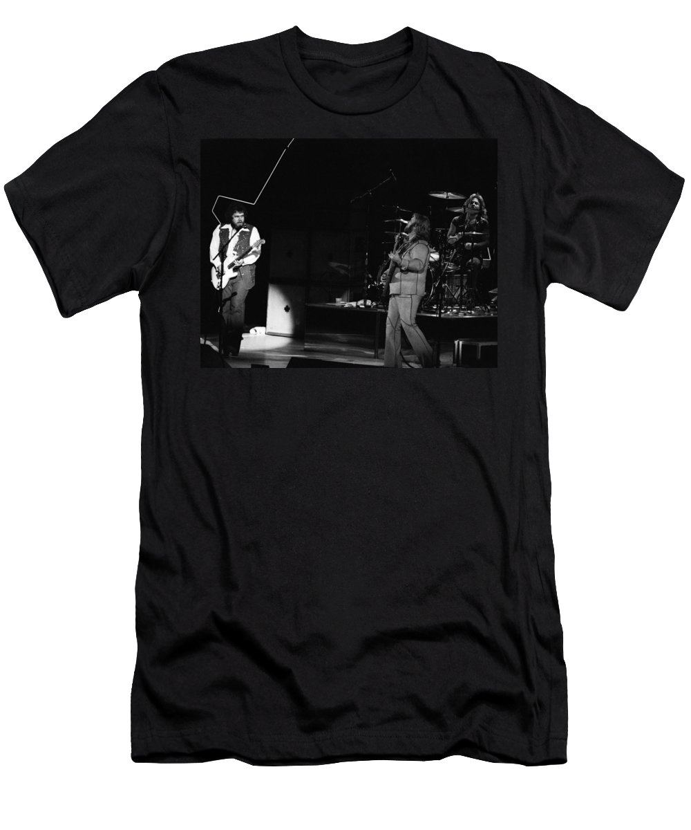 Bachman-turner Overdrive Men's T-Shirt (Athletic Fit) featuring the photograph Bachman-turner Overdrive In Spokane In 1976 by Ben Upham