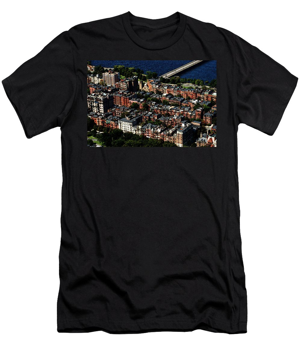 Boston Men's T-Shirt (Athletic Fit) featuring the photograph Back Bay by Charlie and Norma Brock