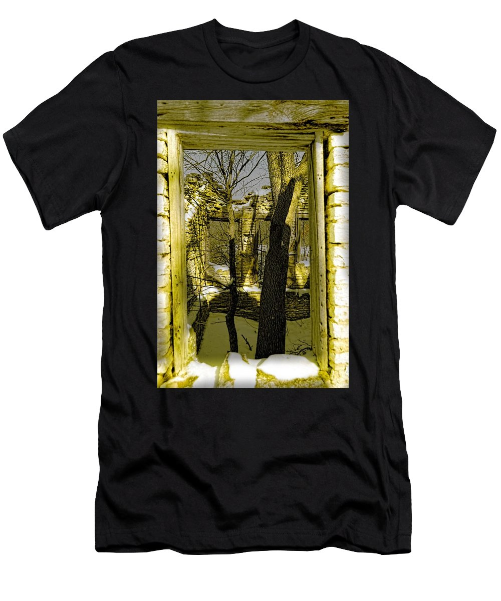 Tree Men's T-Shirt (Athletic Fit) featuring the photograph Back In Time by Bonfire Photography