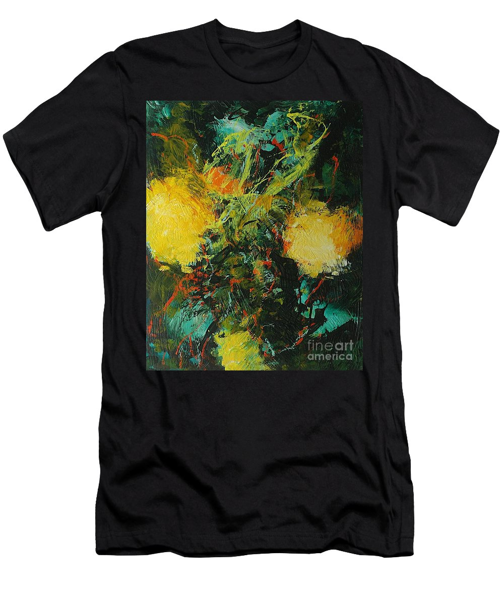 Landscape Men's T-Shirt (Athletic Fit) featuring the painting Back To Eden by Allan P Friedlander