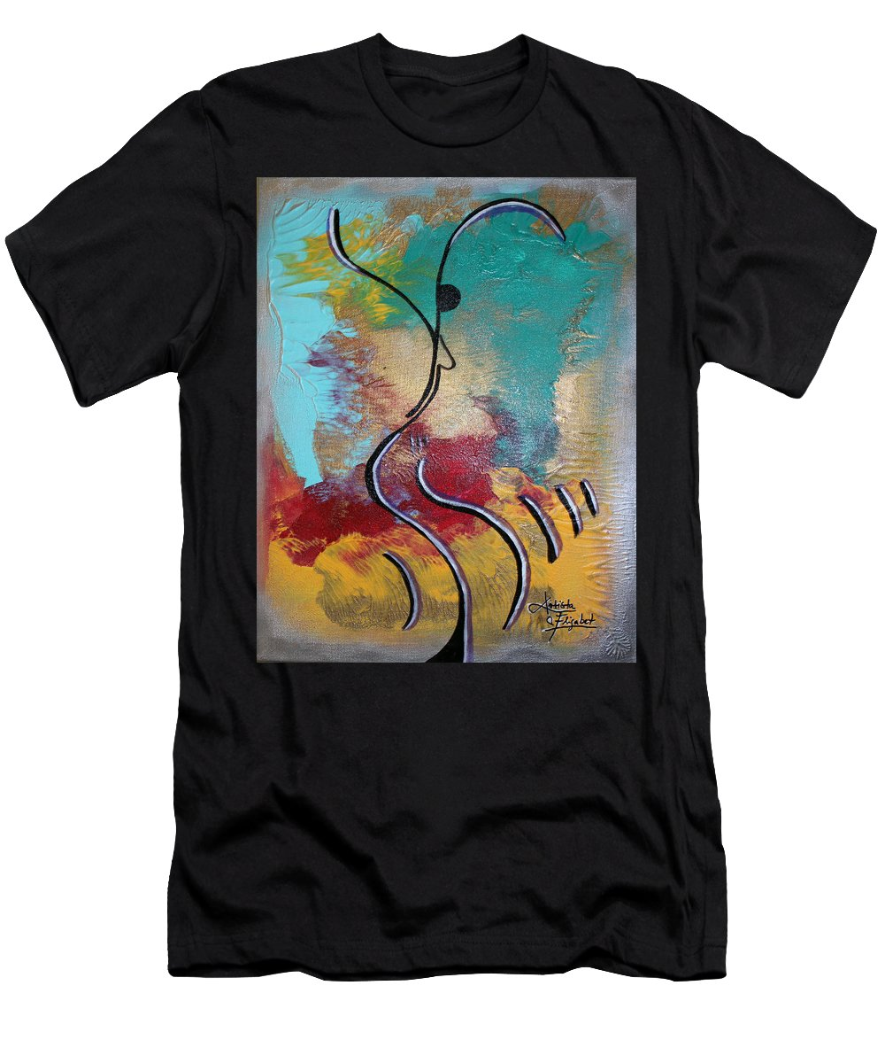Dancing Men's T-Shirt (Athletic Fit) featuring the mixed media Bailando 2 by Artista Elisabet