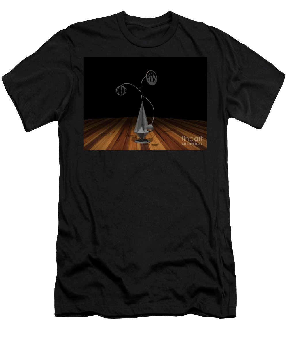 Concept Men's T-Shirt (Athletic Fit) featuring the photograph Balancing Flame V2 by Peter Piatt