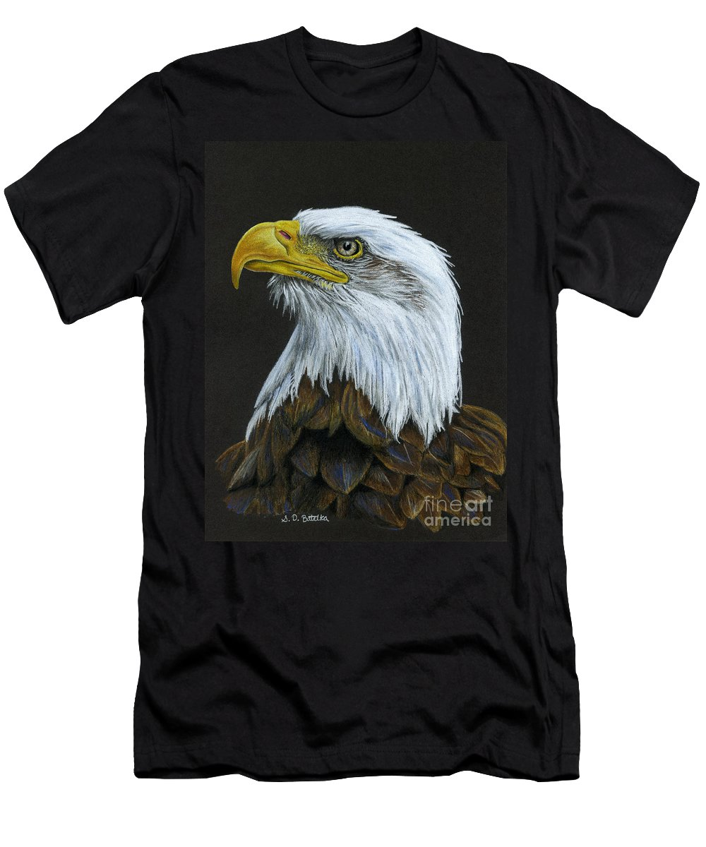 Bald Eagle T-Shirt featuring the painting Bald Eagle by Sarah Batalka