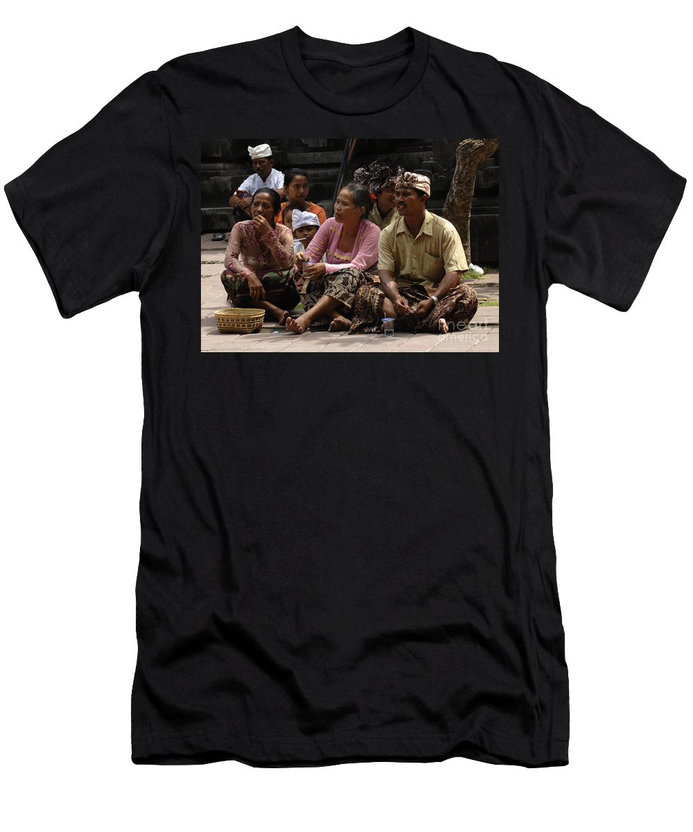 Bali Men's T-Shirt (Athletic Fit) featuring the photograph Bali Indonesia Proud People 3 by Bob Christopher