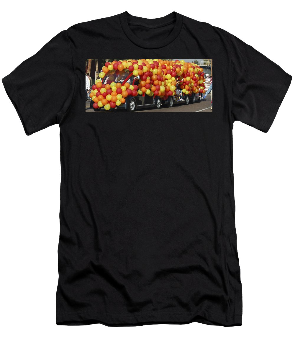 Clowns Men's T-Shirt (Athletic Fit) featuring the photograph Balloon Car by Jon Berghoff