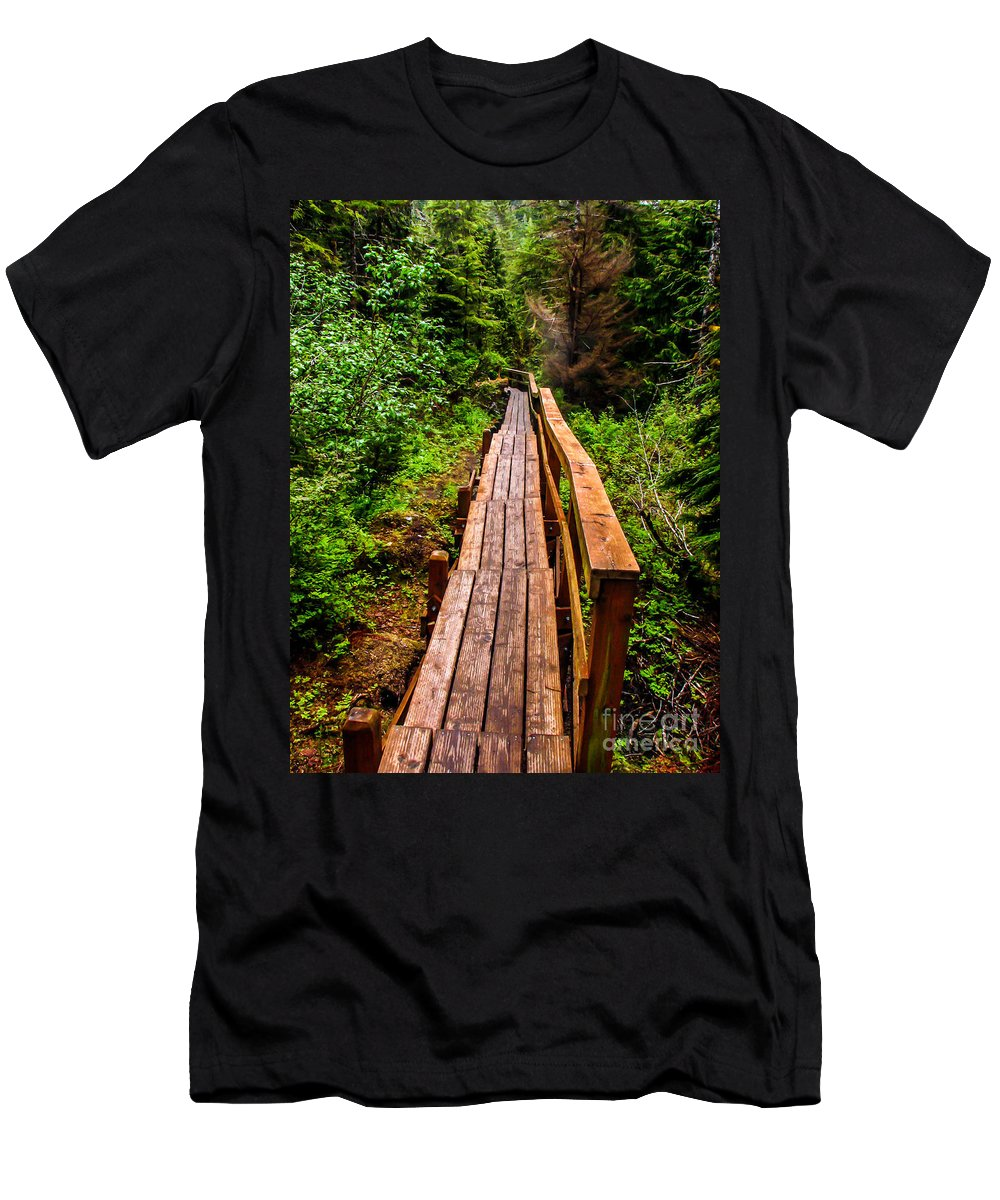 Alaska Men's T-Shirt (Athletic Fit) featuring the photograph Baranof Boardwalk by Robert Bales