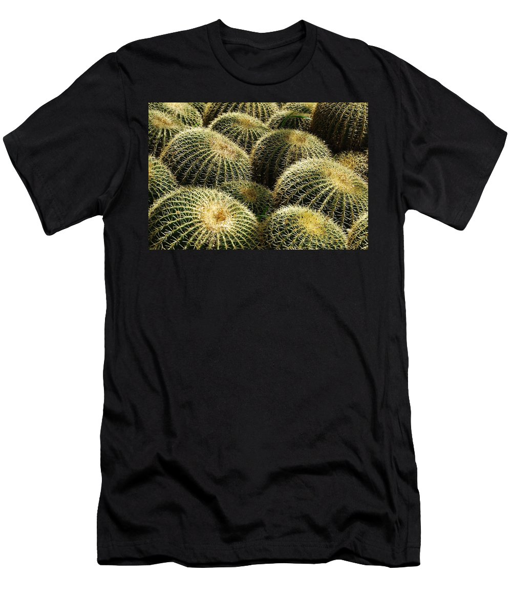 Barrel Men's T-Shirt (Athletic Fit) featuring the photograph Barrel Cacti by Tam Ryan