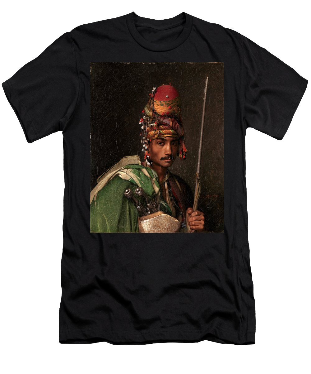 Jean-leon Gerome Men's T-Shirt (Athletic Fit) featuring the painting Bashi-bazouk by Jean-Leon Gerome