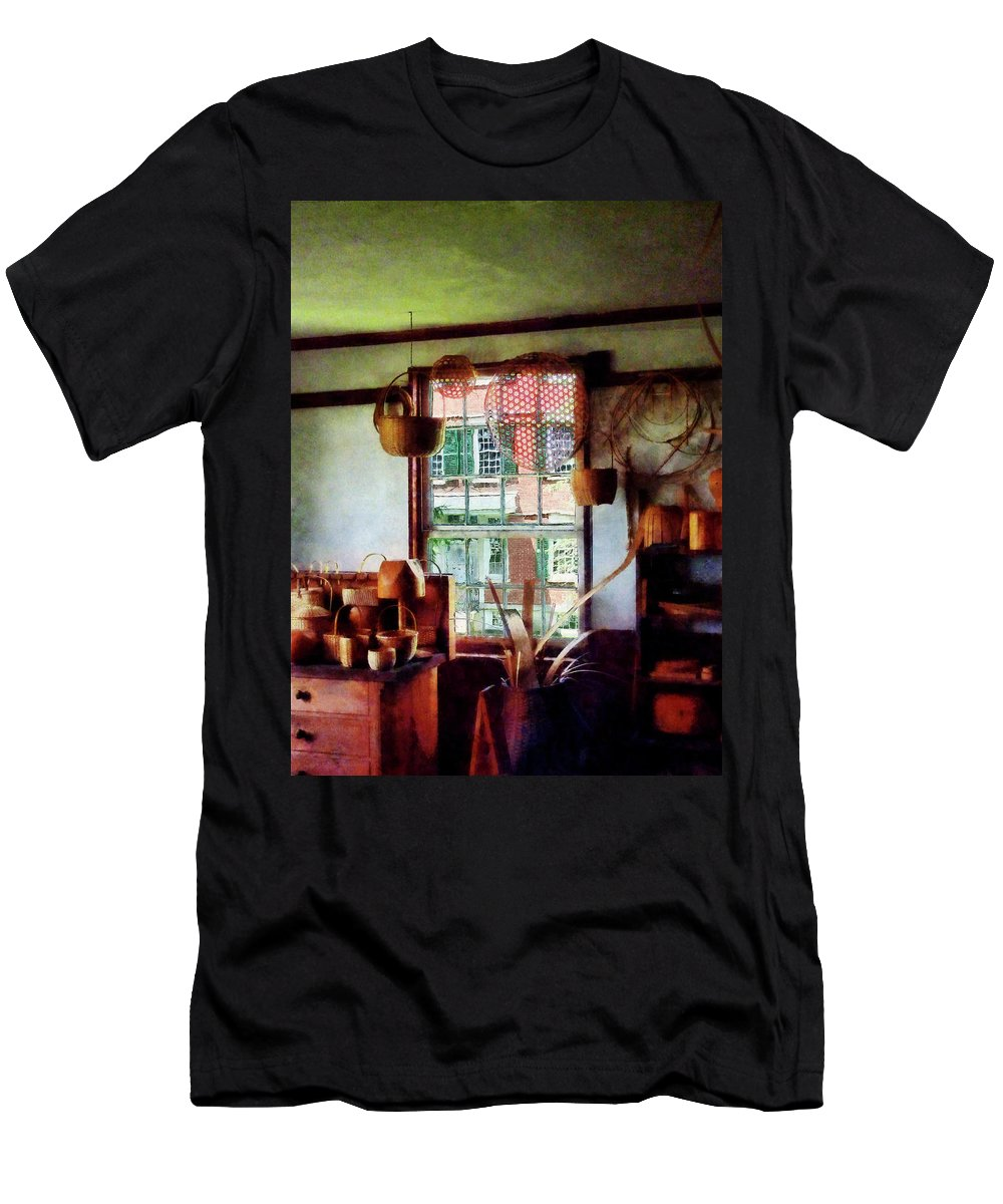 Basket Men's T-Shirt (Athletic Fit) featuring the photograph Basket Shop by Susan Savad