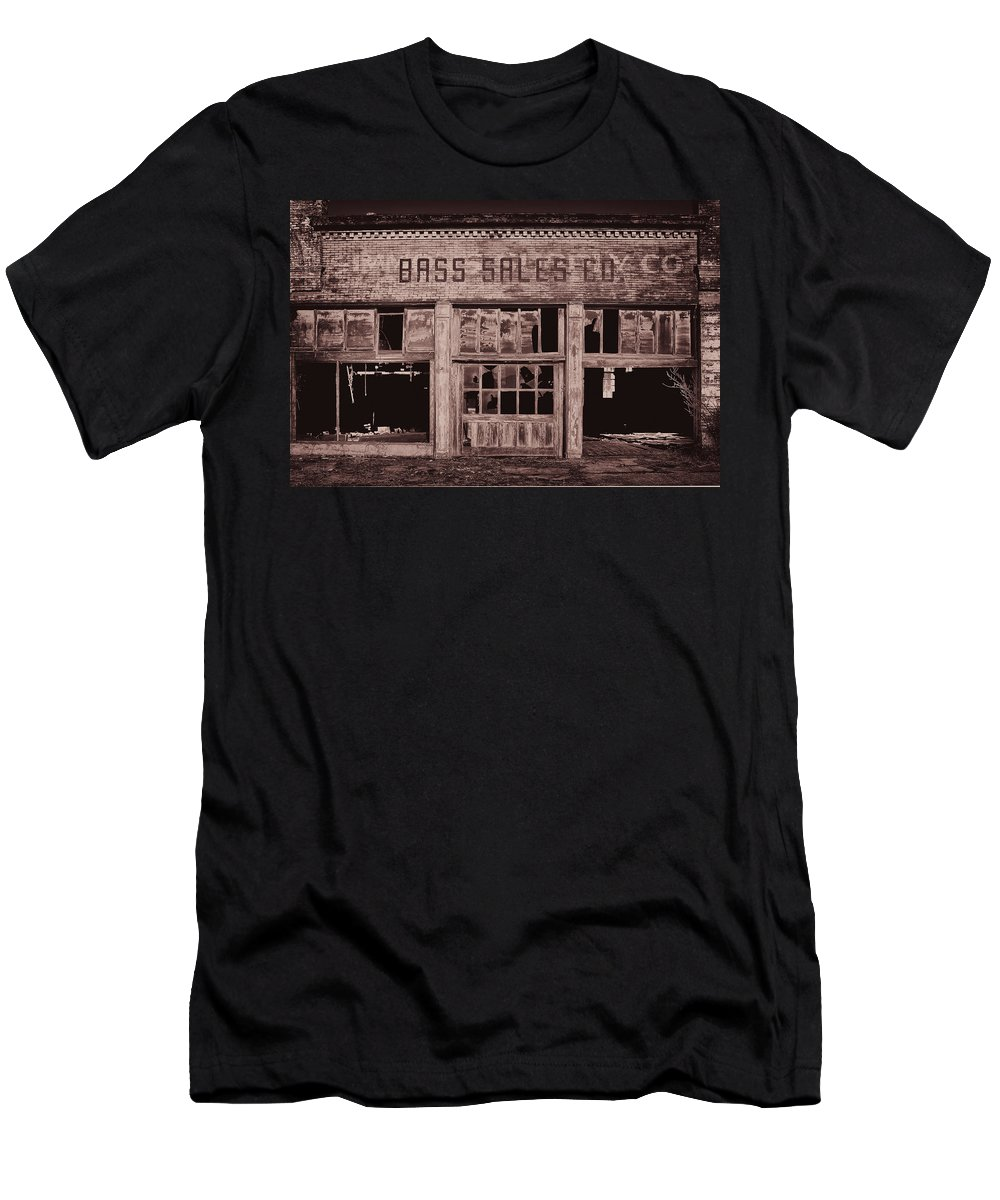 Monotone Men's T-Shirt (Athletic Fit) featuring the photograph Bass Sales Co Cairo Il Monotoneimg 2962 by Greg Kluempers