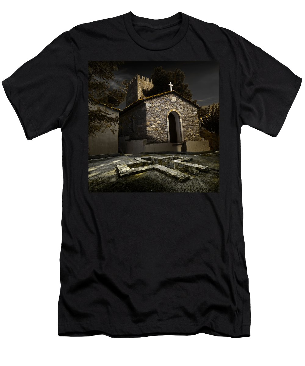 Greece Men's T-Shirt (Athletic Fit) featuring the photograph Bath Of Life by Ivan Zeitlin