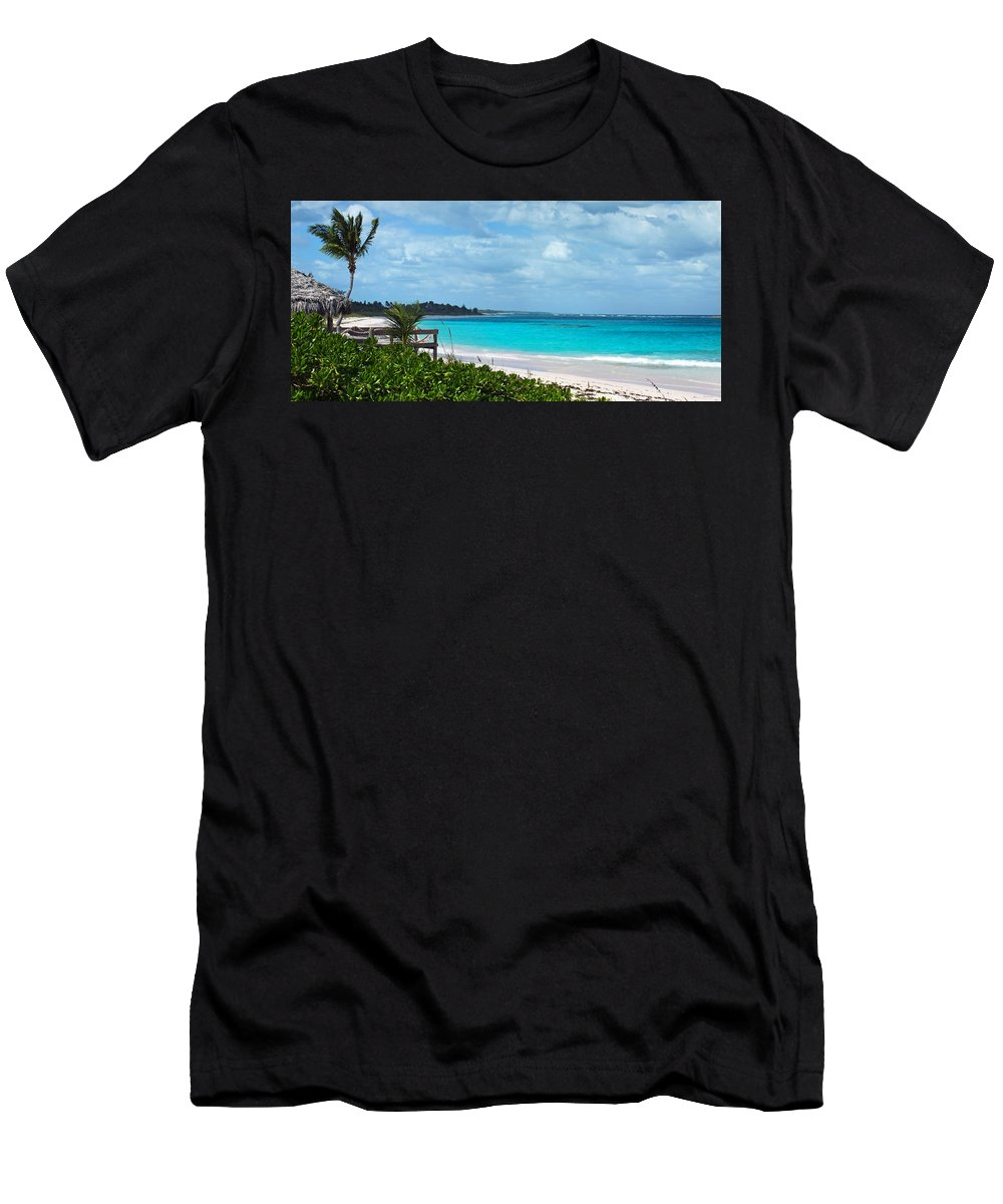 Duane Mccullough Men's T-Shirt (Athletic Fit) featuring the photograph Beach At Tippy's by Duane McCullough