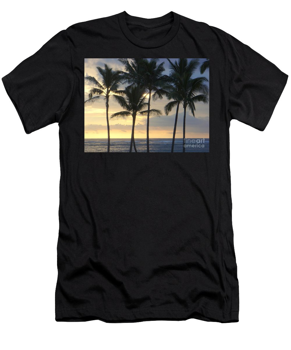 Beach Men's T-Shirt (Athletic Fit) featuring the photograph Beachwalk Series - No 7 by Mary Deal