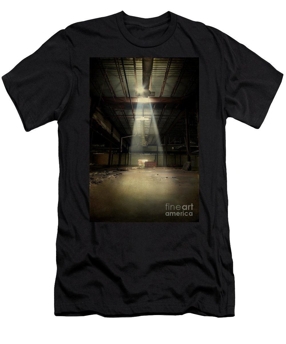 Abandoned Men's T-Shirt (Athletic Fit) featuring the photograph Beam Me Up by Evelina Kremsdorf