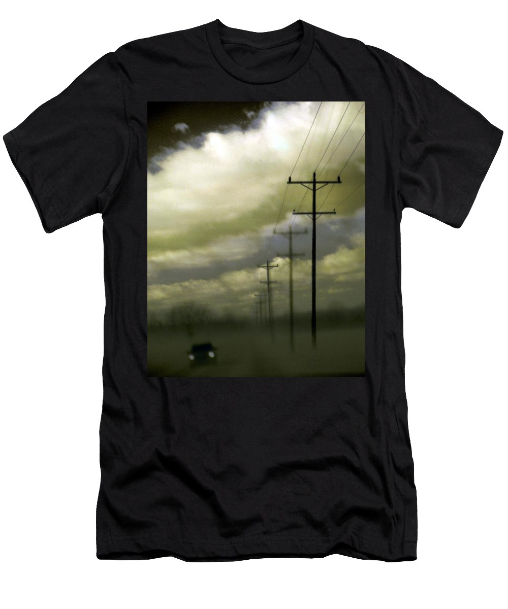 Surreal Men's T-Shirt (Athletic Fit) featuring the photograph Beat The Night by Gothicrow Images