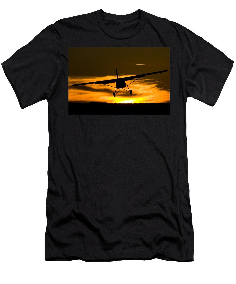 Pilatus Pc6 Porter Men's T-Shirt (Athletic Fit) featuring the photograph Beatiful Porter by Paul Job