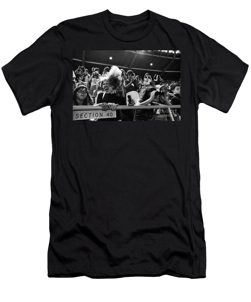 Beatles Concert T-Shirt featuring the photograph Beatles Concert by Van D. Bucher