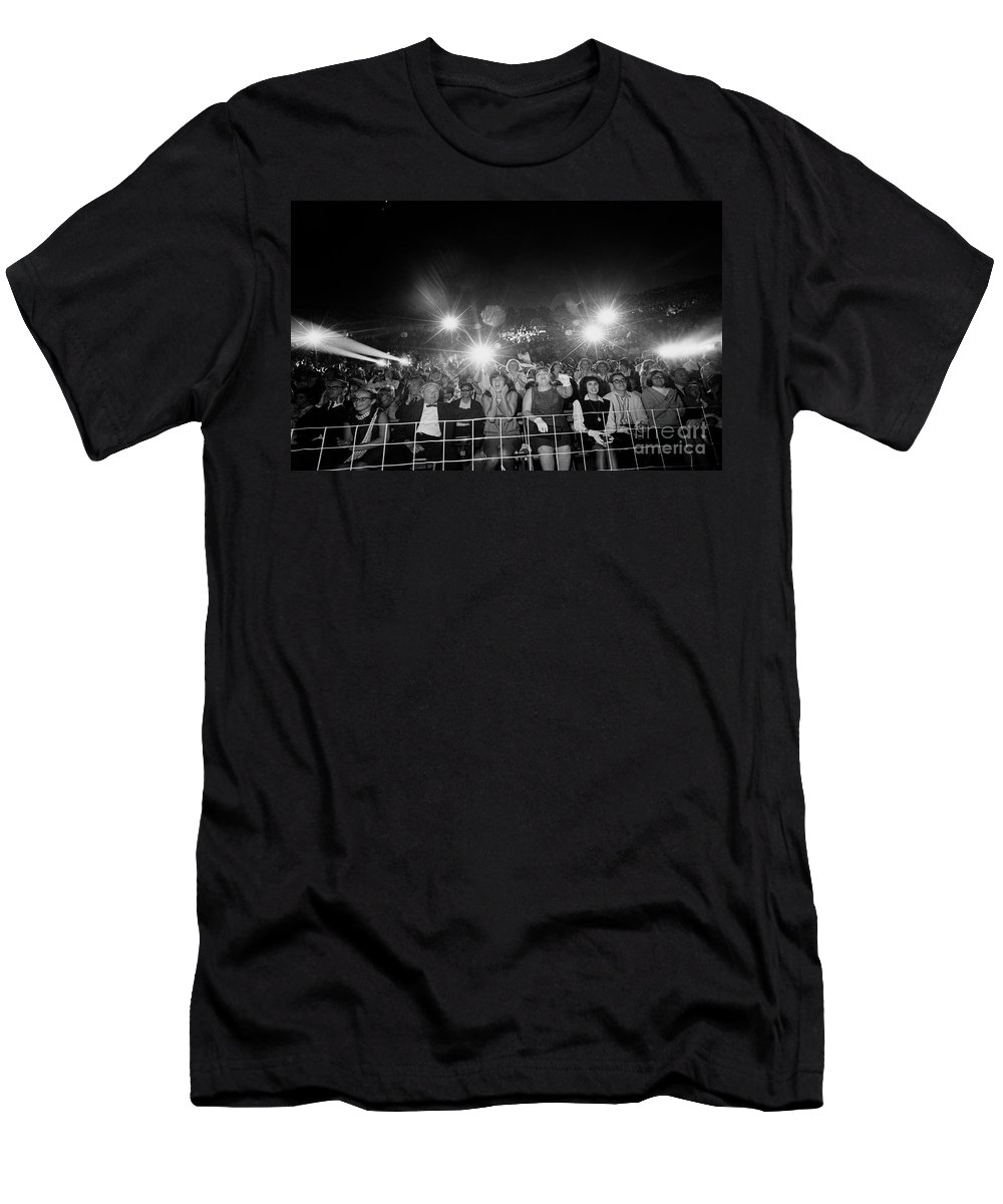 History T-Shirt featuring the photograph Beatles Fans At Concert, 1964 by Larry Mulvehill